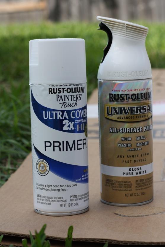 Spray paint bathroom