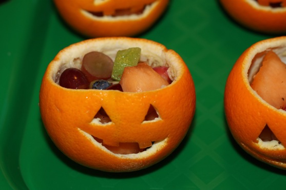 Jack O Lantern Fruit Cups 2