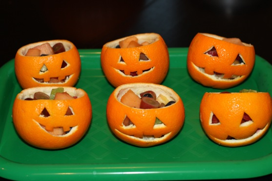 Jack O Lantern Fruit Cups 3