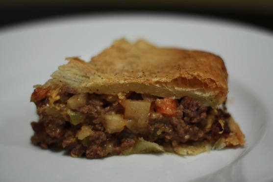 Beef Cheddar and Potato Pie 2