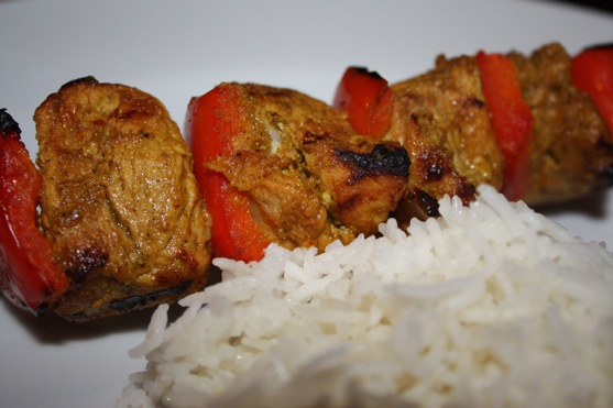Indian Spiced Pork Skewers