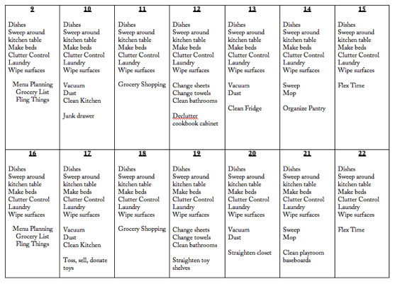 clean home routines and cleaning calendar the picky apple