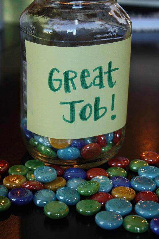 Classroom Marble Jar Ideas : Rainbow rocks rewards the picky apple