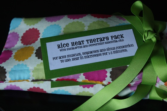 Rice Heat Therapy Packs The Picky Apple