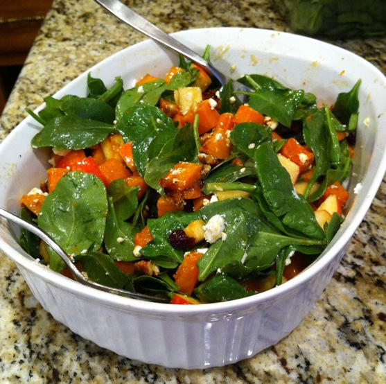 Fall Salad With Butternut Squash And Apple Butter