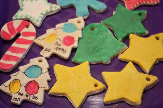 How To Make Christmas Tree Ornaments With Dough : Salt dough ornaments the picky apple