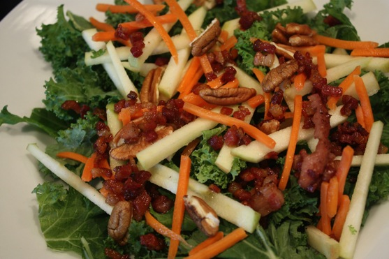 Kale, Apple, and Pancetta Salad | The Picky Apple